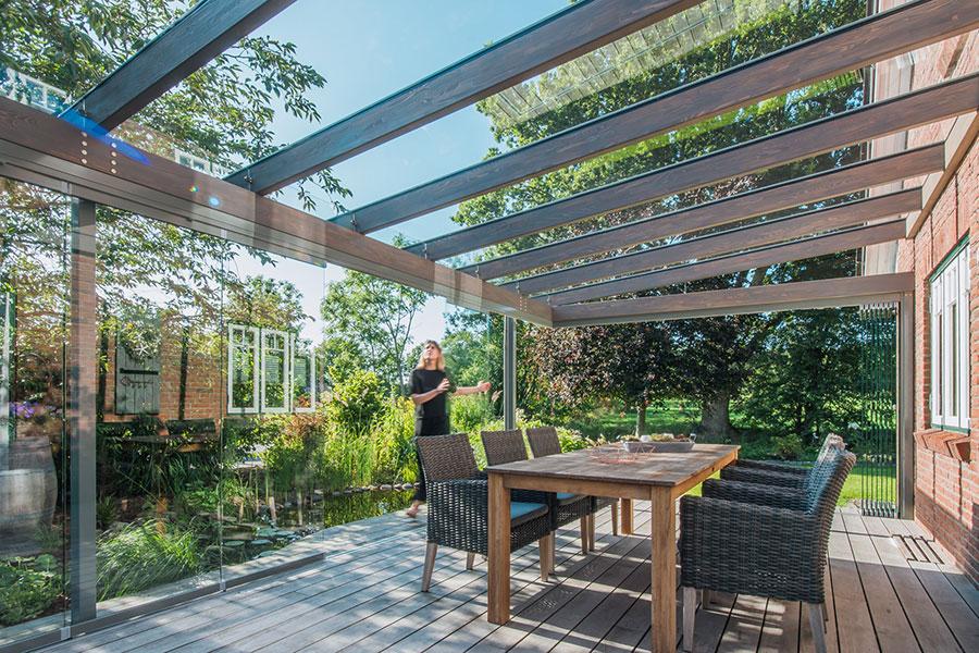 Holz/Aluminium Terrassendach SDL Aura
